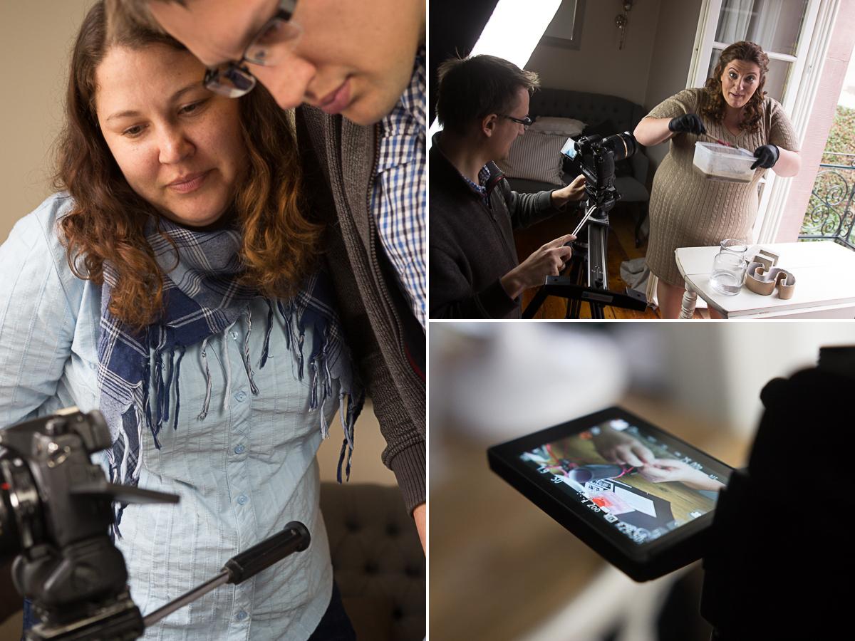Lumen Art Studio Hochzeitsfilme Frankfurt, Darmstadt, Wiesbaden, Mainz, weltweit mit Katharina und Daniel und der Trautante, für die sie einen Imagefilm über freie Trauungen gedreht haben. Ganz entspannt.