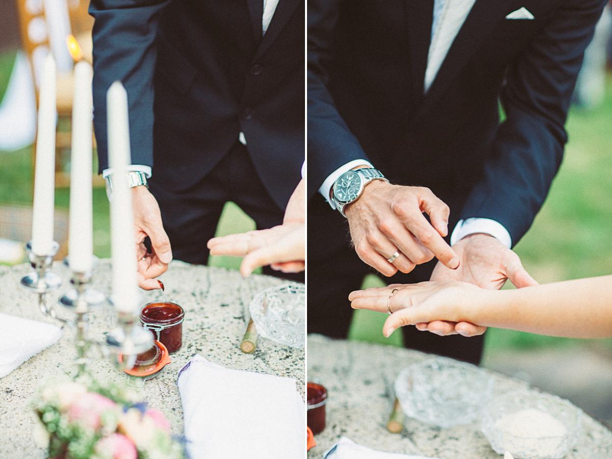 Hochzeit trauung rituale