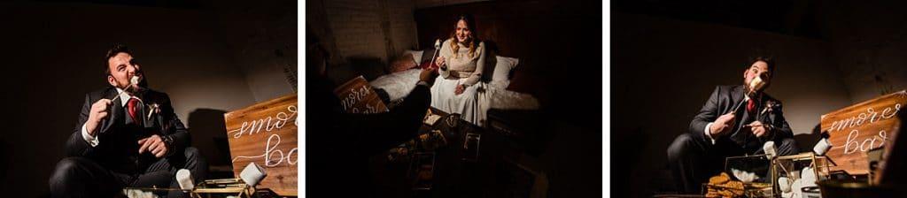 Smores bei Bekräftigungszeremonie BEZZI mit freie Trauung bei Hochzeit mit Traurednerin Trautante Friederike Delong von Hochzeitsfotograf Steven Herrschaft