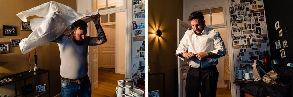 Getting Ready bei Bekräftigungszeremonie BEZZI mit freie Trauung bei Hochzeit mit Traurednerin Trautante Friederike Delong von Hochzeitsfotograf Steven Herrschaft